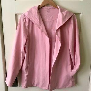 Pink Eileen Fisher jersey hoodie